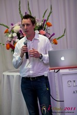 Chas McFeely (CEO of HuookChasUp.com) at the 2011 Online Dating Industry Conference in California