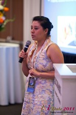 Monica Ohara (Director of Marketing at SpeedDate) at the June 22-24, 2011 Dating Industry Conference in Los Angeles