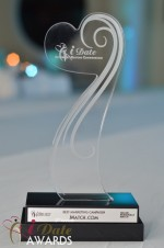 The iDate Award Trophy at the January 24, 2012 Internet Dating Industry Awards Ceremony in Miami