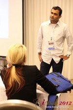Dwipal Desai (CEO of TheIceBreak.com) covers monetization during a relationship at the iDate Mobile Dating Business Executive Convention and Trade Show