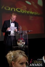 Dan Winchester reading on behalf of ChristianConnection.co.uk, winner of Best Niche Dating Site at the 2013 iDate Awards