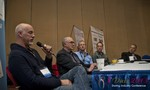 Steve Carter (VP of eHarmony) at the Dating Disruption Methods Panel at the January 16-19, 2013 Internet Dating Super Conference in Las Vegas