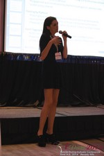Rosalie Sutherland Of AnastasiaDate Speaking On Mobile Dating Conversions  at the 38th iDate Mobile Dating Business Trade Show
