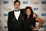 Arthur Malov & Damona Hoffman  in Las Vegas at the January 15, 2014 Internet Dating Industry Awards