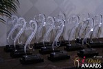 The Award Trophys at the 2015 iDateAwards Ceremony in Las Vegas