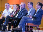 Panel on Online Dating Fraud and Scam Methods - Dave Wiseman, Michael McQuown, Wayne May, Alex Kirkpatrick and Brandon Wade at the 2015 Internet Dating Super Conference in Las Vegas