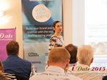 Gloria Diez Business Development From Wamba Speaking at the 2015 iDate Mobile, Online Dating and Matchmaking conference in London